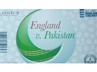 2 Tickets 2nd ODI game England V Pakistan at Lords on the 27th of August.