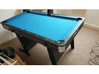 5ft pool table full set up including 2 cues