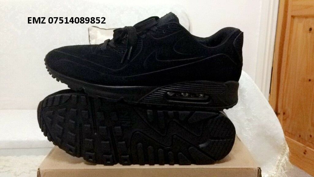 nike air max 90 hyperfuse suede vt Triple Black all sizes inc delivery paypal xx | in Ladywood, West Midlands | Gumtree