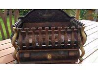 """18"""" Vintage Cast Iron Fire Basket"""