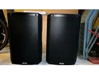 Alto Truesonic TS215 (Pair) 1100 Watt Active Speakers With Padded Bags As New Condition