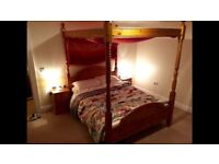 King size 4 poster bed frame