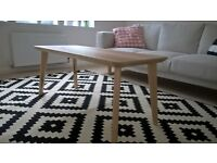 Lisabo Coffee table and matching side table ftom IKEA