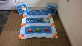 Handmade quilt and matching cushions