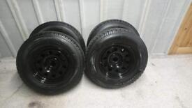 Navara d40 np300 modular wheels and 265 70 17 a/t