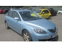 Automatic Mazda 3 56 reg in sky blue with 12 months mot ,px welcome