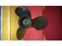 "Mercury 13"" Diameter x 15"" Pitch Aluminium propeller for larger Mercury Mariner outboards."