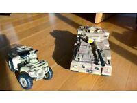 Army tank and quad bike