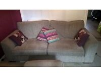 3 Seater Sofa and Storage Pouffe - excellent condition