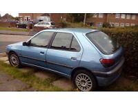 Peugeot 306. 1.4 petrol £250ono