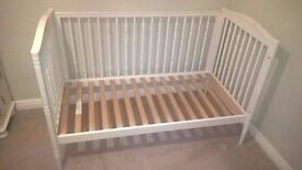 White cotbed - good condition