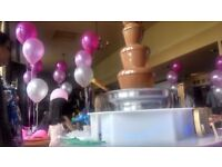 CHOCOLATE FOUNTAIN and CANDY FLOSS parties, weddings, birthdays