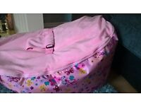 BABY GIRLS BEAN BAG BRAND NEW (FROM AGED NEW BORN TO 3 YEARS)