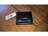 Black leather ladies purse