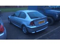 BMW 3 series compact 2003 1.8 petrol silver