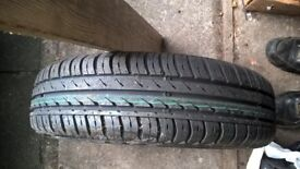 155/65/R14 wheel with unused Continental tyre for MK1 Toyota Aygo/Peugeot 107/Citroen C1