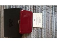 Authentic Anya Hindmarch card case red patient & box