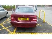MERCEDES C CLASS C180 KOMPRESSOR AVANTGRADE AUTOMATIC , MOTED TAXED AND INSURED , LOW MILEAGE
