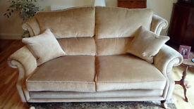 Gold classical sofa and chair. As new condition. New price was £1800 expt £250