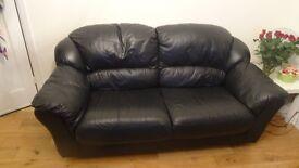Leather sofa plus 2 seats. £ 100