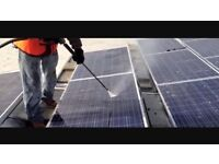 Solar panel cleaning and testing