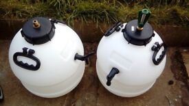 Two King Keg beer barrels.
