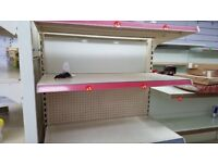 Retail shop Gondola Units with Shelves , display coolers, display freezers- shop fittings lot sale