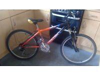 "Raleigh raptor boys bike 14""frame 18 gears clean/tidy 8yrs+"