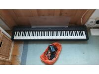 Yamaha Digital Piano P-85 with keyboard stand and sustain pedal