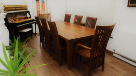 Taplok dining table + 8 balero chairs. Solid teak table FREE DELIVERY!!