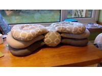 Grey angled/ adjustable breastfeeding/ feeding support pillow