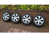 set of 4 BMW winter wheels and tyres
