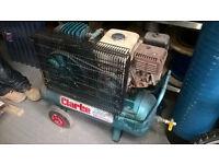 Clarke petrol air compressor with honda engine