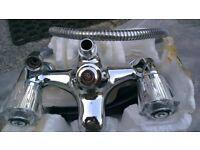 (NEW) Traditional Modern Bath Filler Mixer Tap + Shower head