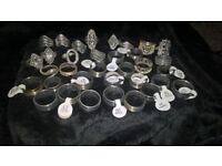 job lot of 34 rings