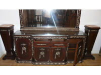 DELUXE SOLID WOOD GLASS STYLE LOUIS XV MIRRORED SIDEBOARD ONLY £1500