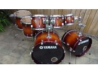 7 Piece Yamaha Tour Custom Drum kit shell pack. In immaculate condition.
