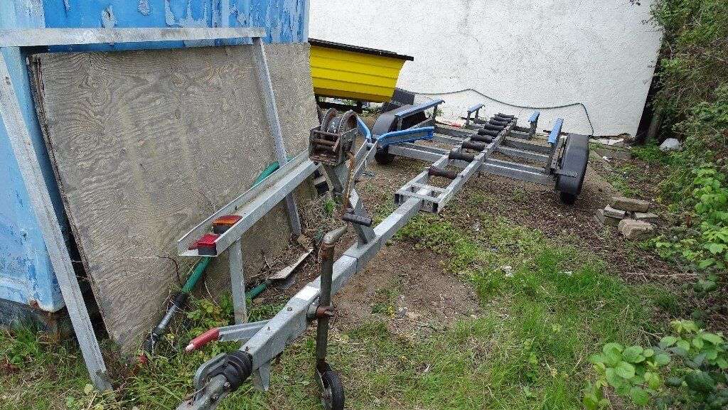 Boat trailer twin axle galvanized 23ftin Clacton on Sea, EssexGumtree - boat TRAILER 1200KG GALVANIZED FULLY ADJUSTABLE 23FT LONG £795 phone 07969 699 604