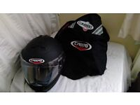 Motorbike clothing-Helmet, Jacket, Gloves, & Trousers, only used twicwe very good condition, £ 250.