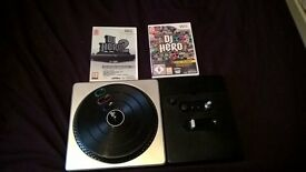 DJ Hero turntable and two games