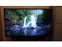 "Television tv 50 "" inch big screen lcd for sale plus free table"