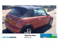 Mini Cooper convertable long mot may consider swap or px
