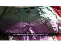 Size 8 shorts with tags NEW