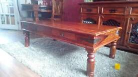 Indian Thakat wood large coffee table.