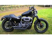 HARLEY DAVIDSON 1200 SPORTSTER NIGHTSTER. very low mileage. immaculate. stage 1 with V&H exhausts