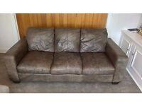 Vintage leather sofa.
