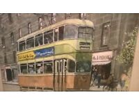 GLASGOW CORPORATION TRAM PAINTING