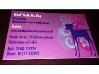 Dog walking Brentwood and surrounding areas