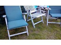 Solid teak garden furniture set