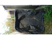 Garden Pond Hard/Pre-formed Liner Black 53in/135cm x 34in/61cm x18in/46cm depth